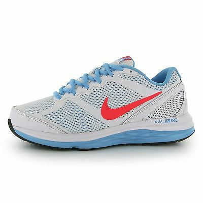 Nike Dual Fusion Running Trainers Junior Girls Wht/Pnk/Blue Sports Sneakers