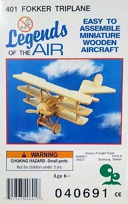 Legends of the Air Miniature Wooden Aircraft - 401 Fokker Triplane