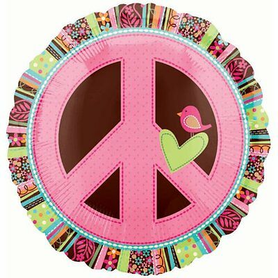 Anagram International Hippie Chick Peace Sign Package Balloo