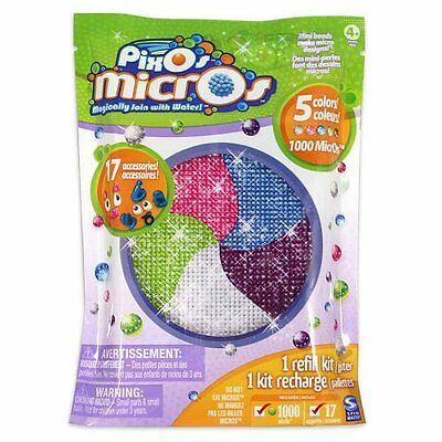 Pixos Micros Mini Beads Refill Kit Glitter 1000 Count and 17