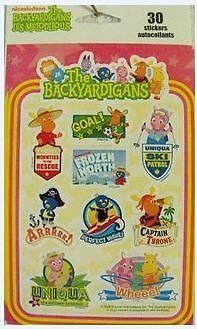 The Backyardigans 30 stickers/autocollants