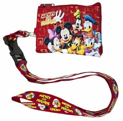 Disney Mickey Mouse and Friends Lanyard with Detachable Coin