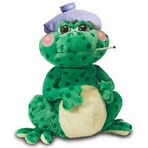 """Fever Frog 12"""" Tall Animated Singing Plush With Light Up Che"""
