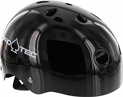 PRO-TEC The Classic EPS Foam Liner Gloss Black Large Skateboard Helmet - CE