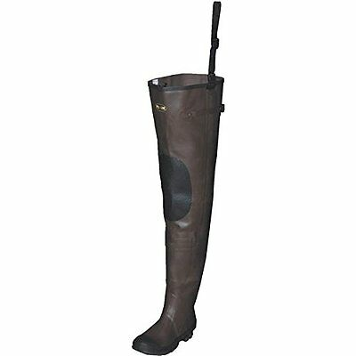 Pro Line Men's Stream Rubber Hip Waders Cleated Brown, BROWN