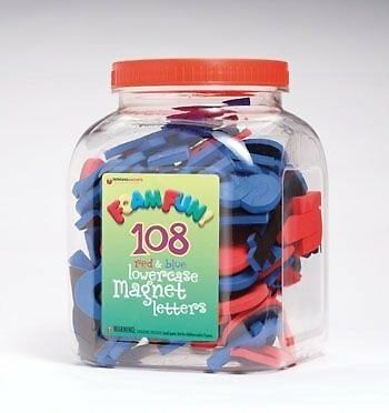 Dowling Magnets Foam Fun Magnet Red & Blue Lowercase Letters