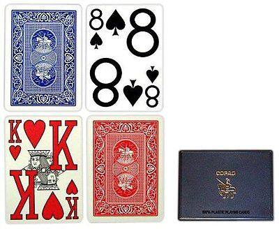Copag Poker Size Magnum Index Playing Cards (Blue Red Setup)