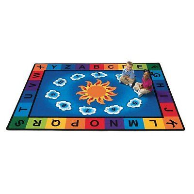 Literacy Sunny Day Learn and Play Kids Rug Rug Size: Oval 5'