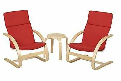Bentwood Table & Chairs Set-For Kids-Red