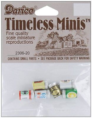 Darice Timeless Miniatures: Assorted Beer Cans