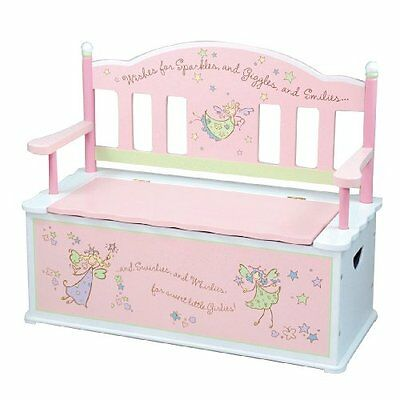 Levels Of Discovery Fairy Wishes Bench Seat with Storage Pin