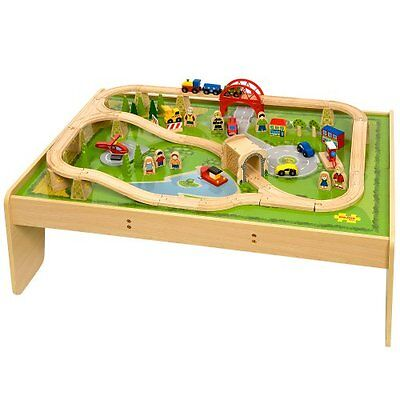 Bigjigs Train Set and Table Combination in a Box