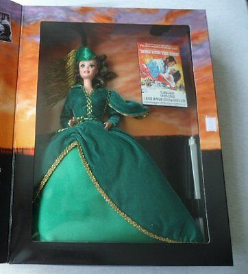 Holloywood Legends Collection Barbie Doll Scarlett O'Hara in Green Drapery Dress