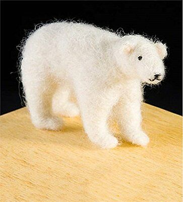 Polar Bear Wool Needle Felting Kit