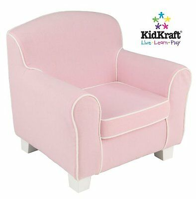 KidKraft Pink Chair with White Piping
