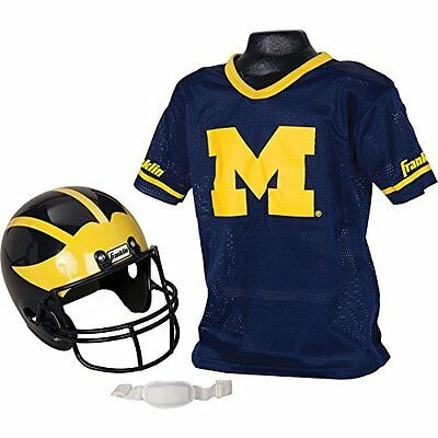 Franklin Sports NCAA Michigan Wolverines Youth Helmet and Je