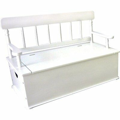 Levels of Discovery Simply Classic White Bench Seat w/ Storage