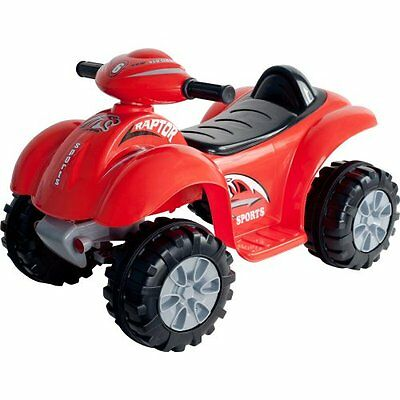 Lil' Rider Battery Powered Red Raptor 4 Wheeler Red