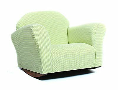KEET Roundy Rocking Kid's Chair Gingham, Green