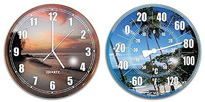 Hydro Tools 9260 Poolside Wall Clock and Thermometer Combo S