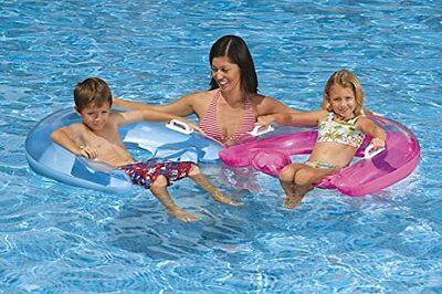 Floating Lounge Seat - Inflatable Pool Float with Built-in C