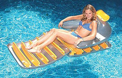 74 Inch Folding Lounger 1 Yellow (Colors May Vary)