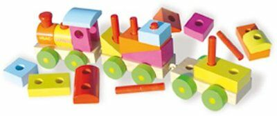 Vilac Push and Pull Baby Toy with Blocks, Train, Large