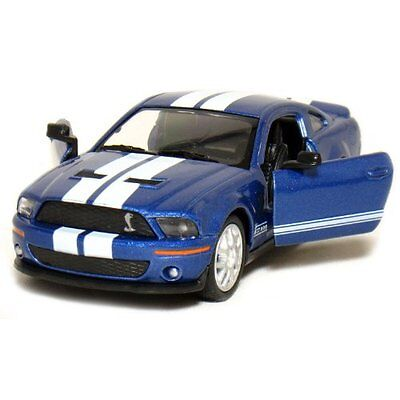 5 2007 Ford Shelby GT500 with Stripes 1:38 Scale (Blue)