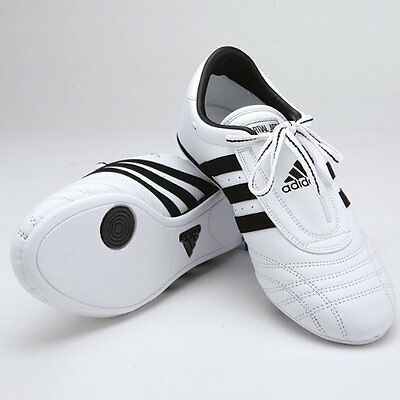 Adidas Low Cut Sneakers, White with Black Stripes, 6.5