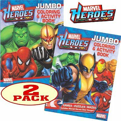 Marvel Heroes Avengers Jumbo Coloring and Activity Book Set