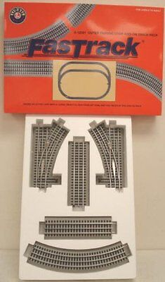Lionel FasTrack Outer Passing Loop Add On Track Pack