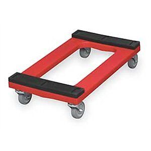Rubbermaid Commercial FG9T5500 Red 1000 lbs Capacity Polyethylene Dolly wit