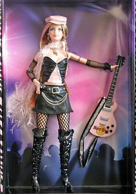 2004 Barbie Collector Silver Label, Hard Rock Barbie Doll with Guitar! (1 E