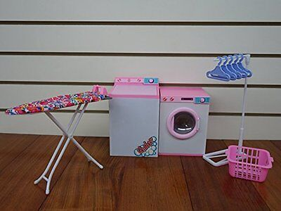 Barbie-size Dollhouse Furniture- Laundry Room with Iron & Ironing Table