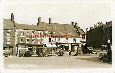 Real Photographic Postcard Of The Market Place, Caistor, Lincolnshire