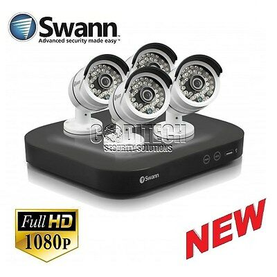 Swann DVR8-4750 - 8 Channel 1080p AHD/TVI CCTV Kit with 4x 3.0MP PRO-T858 Cams *