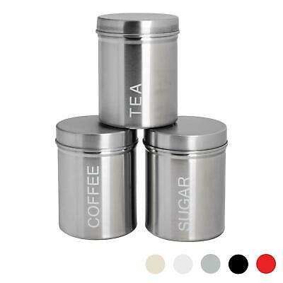 Stainless Steel Tea, Coffee, Sugar Canisters Storage Set