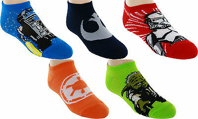 Star Wars No-Show Socks, 5 Pack, 6-8.5