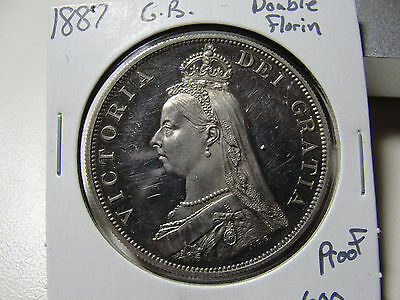 1887 Great Britain Double Florin Proof Coin