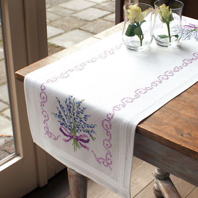 Vervaco Lavender Table Runner Embroidery Kit