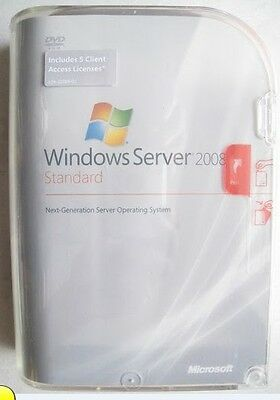 GENUINE WINDOWS SERVER 2008 STANDARD 32&64 BIT (include 5 client access license)