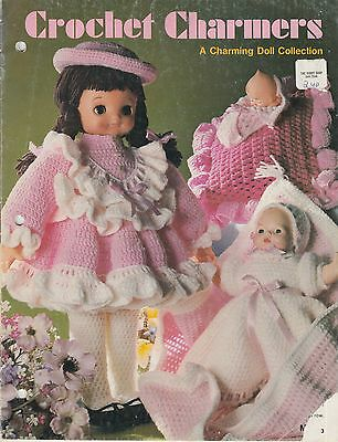 Crochet Charmers doll clothes pattern book copyright 1982