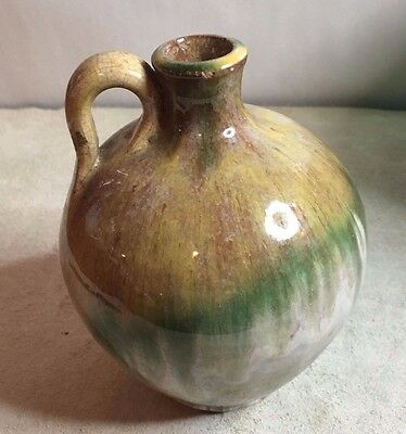 "Vintage North Carolina Pottery Honey Jug 5.5"" <>PRIMITIVE SOUTHERN ART POTTERY<>"
