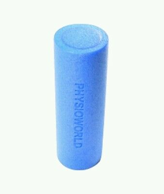 PhysioWorld Foam Roller - 45x15cm - Blue  - for yoga, stretching or physio