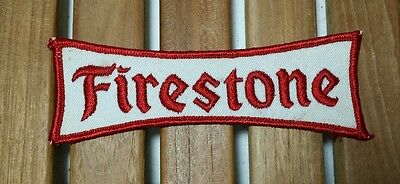 Vintage Unique Firestone Racing Tire Red & White Patch Badge