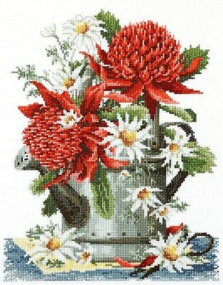 Waratahs & Flannel Flowers -  Cross Stitch Chart - Country Threads