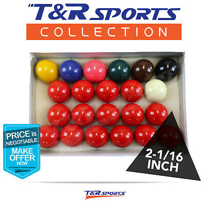 New! Quality 2-1/16 Inch Billiard Snooker Ball Set 15 Reds Free Delivery