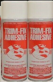 2 Cans Trimfix High Temp Spray Adhesive 500ml Tins - SPECIAL OFFER !!