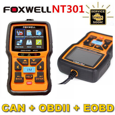 Foxwell NT301 Car Engine Diagnostic CAN OBDII/EOBD Fault Code Reader Scan Tool
