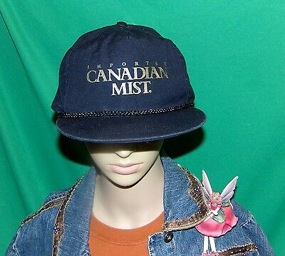 Canadian Mist Hat, Vintage Baseball Cap, Nearly 30 year old Imported Whiskey